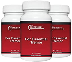 Tremortin –3 Pack- Best Natural Aid for Essential Tremor - Provides Relief for Shaky Hands, Arm, Leg, Voice Tremors