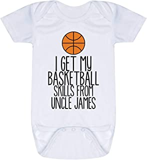 Custom Basketball Baby & Infant Onesie | I Get My Skills from | Colors & Sizes