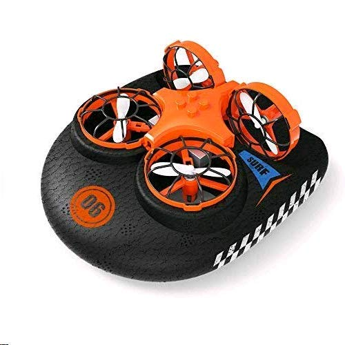 EACHINE E016F Boot Drohne Ferngesteuertes Boot/Auto/Drohne Hovercraft Abnehmbar Amphibious Spielzeug Mini Drohne für Kinder RC Multifunktional Boot