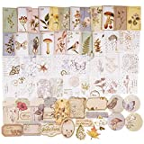 120pcs Pegatinas Adhesivas Material Scrapbooking Estilo Vintage Pegatina Flores Decorativa Papel...
