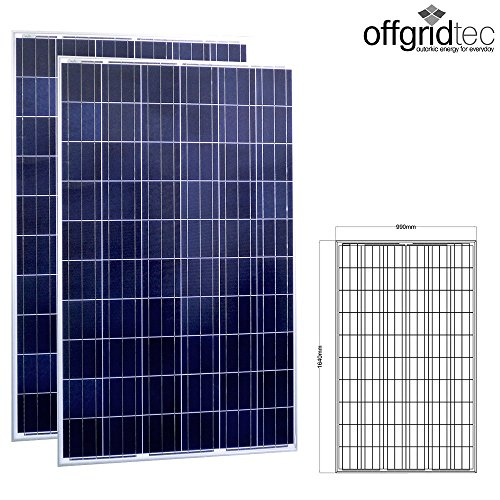 2 Stk. Offgridtec® 275W Poly 36V Solarmodul Projetktmodul Photovoltaik Solarpanel