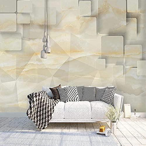 Geometría Cuadrícula Mármol Sencillez Puerta Papel tapiz Imágenes de la pared Decoración de la pared Cartel de Pared Pintado Papel tapiz 3D Decoración dormitorio Fotomural sala sofá mural-300cm×210cm