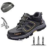 Chaussure de Securité Homme Legere Confortable Chaussures de Travail Basket de Securite Embout de Protection en Acier Respirante Anti-crevaison Chaussures de randonnée,40