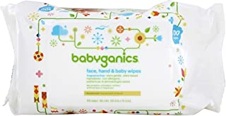 Babyganics Face, Hand and Baby Wipes, 100 Count