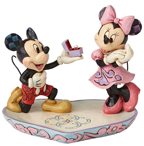 Enesco Disney Traditions by Jim Shore Mickey and Minnie Mouse a Magical Moment Ring Dish Figurine, 5.125 Inch, Multicolor