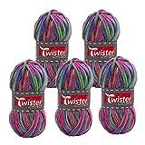 TWISTER 4020885337516 - Ovillo de lana (50 m, 5 unidades)