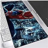 DJFT Tapis de Souris Spiderman Gaming Mouse Pad Marvel Superhero surdimensionné Clavier étendu Tapis de Souris Non-Slip Jeu Tapis de PC de Bureau Home Office Table Tapis de Souris