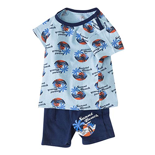 Cuteelf Baby Jungen Mädchen Brief T-Shirt Tops + Camouflage Shorts Outfits Kleidung Set