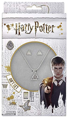 HARRY POTTER Deathly Hallows - Halskette und Ohrringe