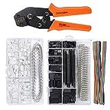Dechengbao Kit d'outils à sertir avec 1550 connecteurs mâle/femelle 2,54 mm et 760 connecteurs JST-XH 2,54 mm pour AWG 26-20 (0,1-0,5 mm2)