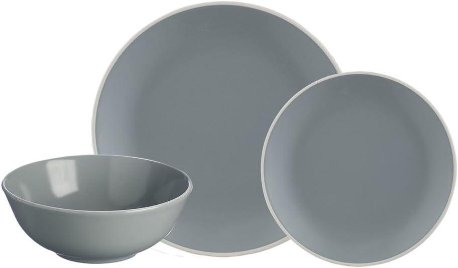 Vajilla cer/ámica, 29 x 29 x 22 cm Mason Cash Collection color gris