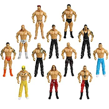 Top Right Toys Set of 12 Boxing and Wrestler Action Figures Playset for Kids - Pretend Play 7 Inch Wrestling Warriors