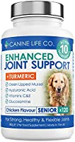 ✔ WHY BUY CANINE LIFE CO'S SENIOR ENHANCED HIP & JOINT SUPPORT? – Each tablet of our older dog joint supplements is packed full of 10 essential natural ingredients to assist in the management and support of your dog's joints and mobility. We use only...