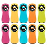 10 Pack Multi-Purpose Magnetic Clips, Chip Clips Bag Clips Food Clips with Magnet, 5 Assorted Bright Colors Refrigerator Magnets for Food Bags and Chip Bags, Perfect for Kitchen & Office Use