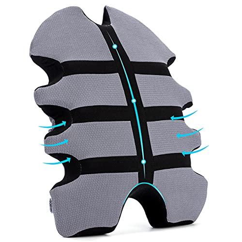 Cojín lumbar ergonómico para silla de oficina, cojín de espuma viscoelástica, cojín lumbar, sofá y cama, soporte lumbar para coche, oficina, silla de ruedas, hogar