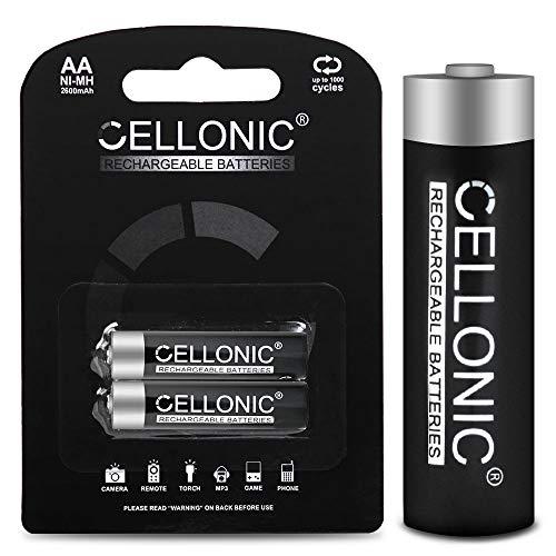 CELLONIC® Qualitäts Akku kompatibel mit Siemens Gigaset C620 / C620A / C620H (2x2600mAh) Ersatzakku Batterie