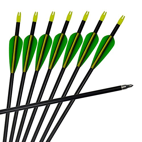 3Z Archery 12pack Arrows Arco de Caza de Aluminio de Tiro con Arco con extremidades Intercambiables 20-60lbs Arco Compuesto y recurvo