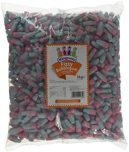 Fizzy Bubblegum Bottles 3 Kilo Bag