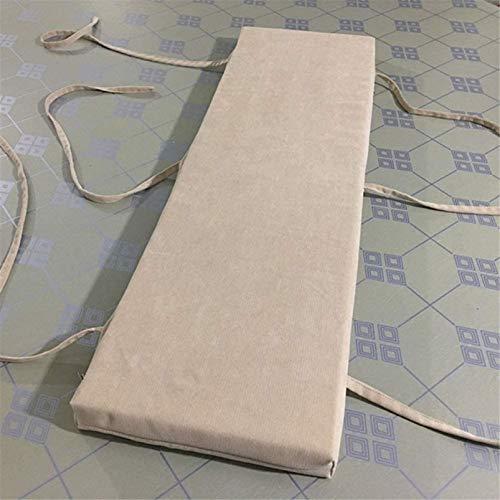 DIVAND Cojines de banco antideslizantes lavables, rectangulares universales para sofá, cojines largos para silla, grueso al aire libre, esponja acolchada para 2 – 3 plazas, N, 200 x 30 cm