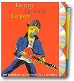Mes premières découvertes de la musique, coffret 3 volumes - Le Rap, le rock, le jazz