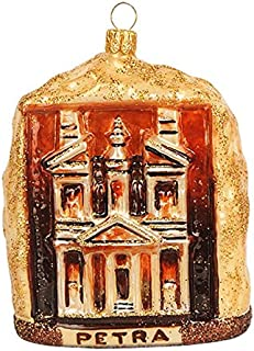 Petra Jordan a UNESCO World Heritage Site Landmark Polish Glass Christmas Ornament Travel Souvenir