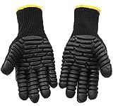 YK.Hapyshop Guantes de trabajo antivibración, guantes de seguridad de reducción de impacto a prueba de golpes