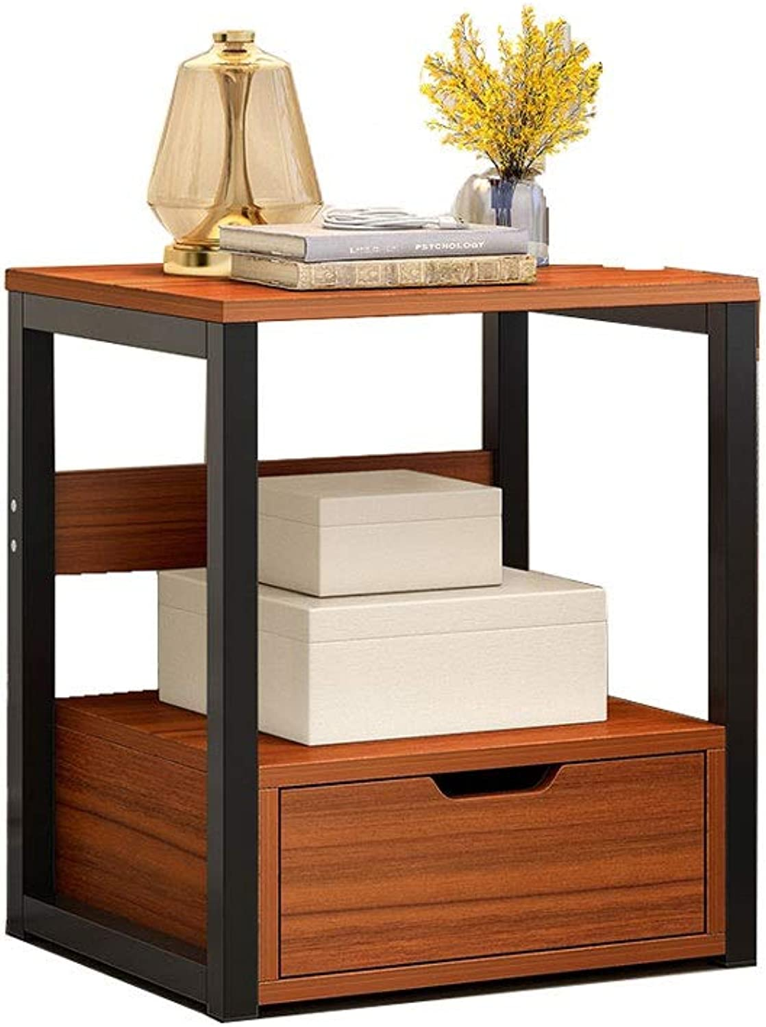 Modern Minimalist White Coffee Table, Living Room Bedroom Locker with Drawer (color   Brown)