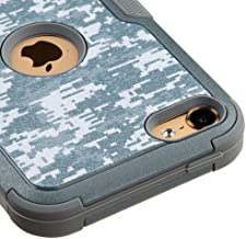 Kaleidio Case Compatible For Apple iPod Touch 5 5th Gen / 6 6th Gen [Natural TUFF] Rugged Dual Layer Hybrid Cover [Include...