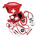 AsaTechmed Deluxe Blood Pressure Kit with Sprague Rappaport Type Stethoscope || Health Monitor Kit Fanny Pack w CPR Mask + Accessories