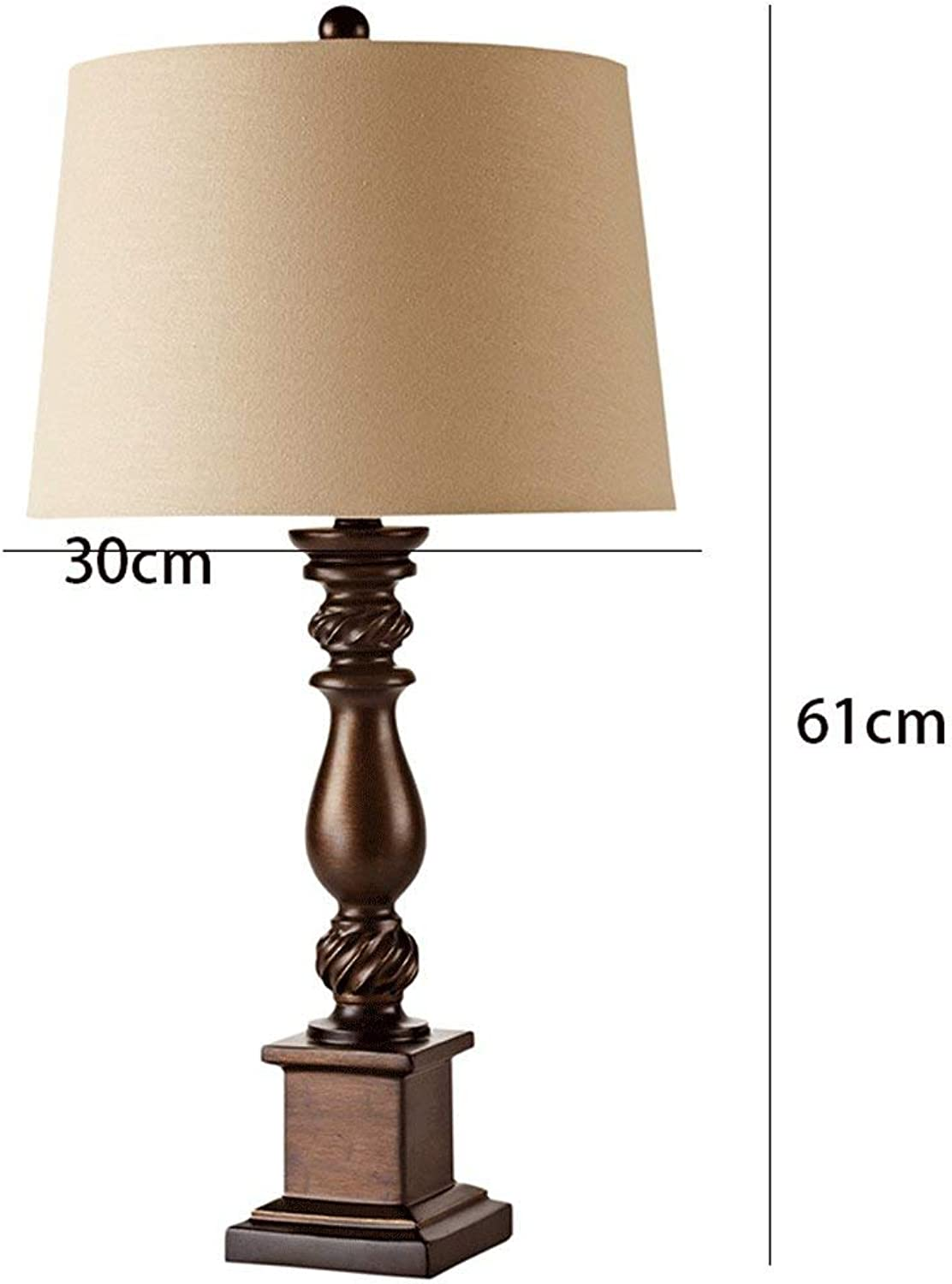 WHKFD Vintage Light Studio with Natural Light on The Bedside Table, Vintage, Brown, H61Cm  W30Cm