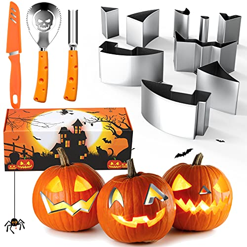 LIMIROLER Pumpkin Carving Kit Stainless Steel Carving Tools Set For Kids Adult Halloween Pumpkin Irregularly Shaped Engraving Tools Manual Carving Knife