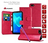 MobiBax Huawei Ascend Y550 Case| Leather Wallet Case Card