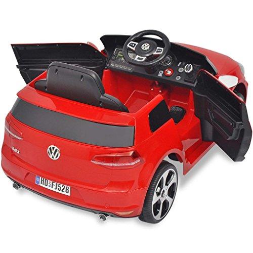 RC Auto kaufen Kinderauto Bild 4: SENLUOWX Kinderauto Elektroauto VW Golf GTI 7 rot 12 V Kinderfahrzeug Kinderauto mit Fernbedienung*