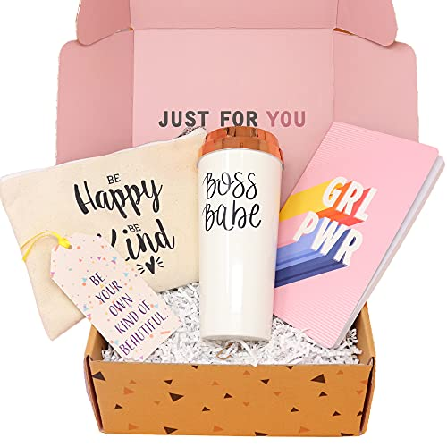 Special Birthday Womens Gift Basket Box Set for Mom- With a Mom Coffee Travel Mug, Motivational...
