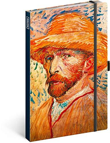 Taccuino con elastico a righe – Blocco note per donne e ragazze – Diario per la scuola e il lavoro (Vincent van Gogh)
