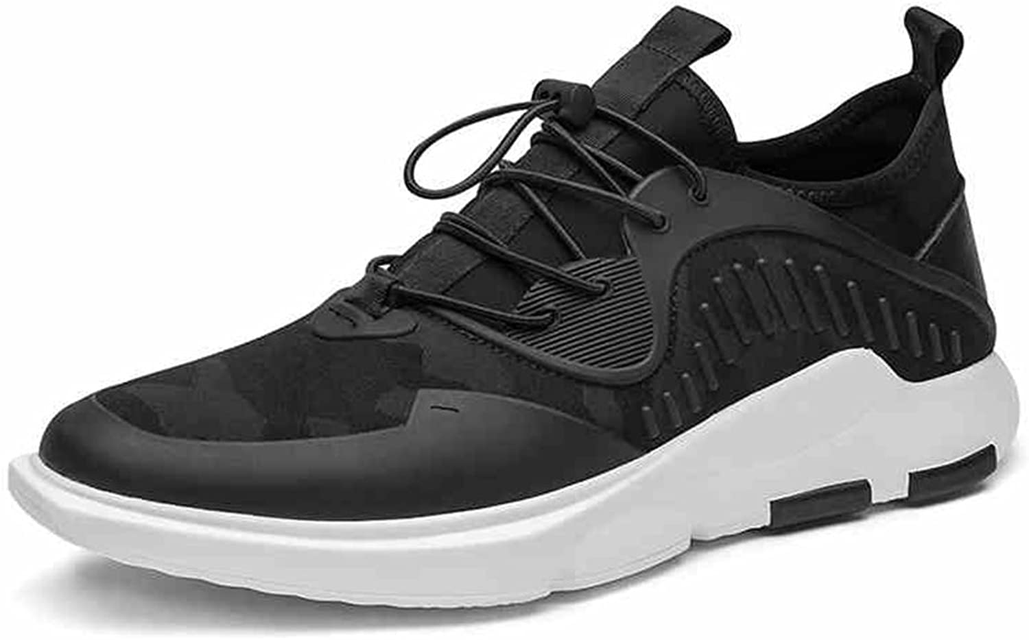 YIXINY 17133 Spring And Autumn Black Breathable Lightweight Outdoor Casual Running shoes Men's shoes (Size   EU39 UK6 CN39)