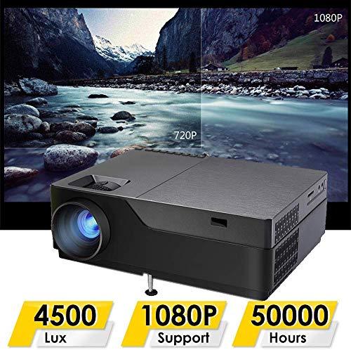 Projector Full HD 1080P Heimkino-Projektor-Unterstützung WiFi Android 6.0 4K Tragbarer Projektor Built-in HiFi-Stereo-Lautsprecher Support-DVD-Player Computer-Playstation-TV-Stick