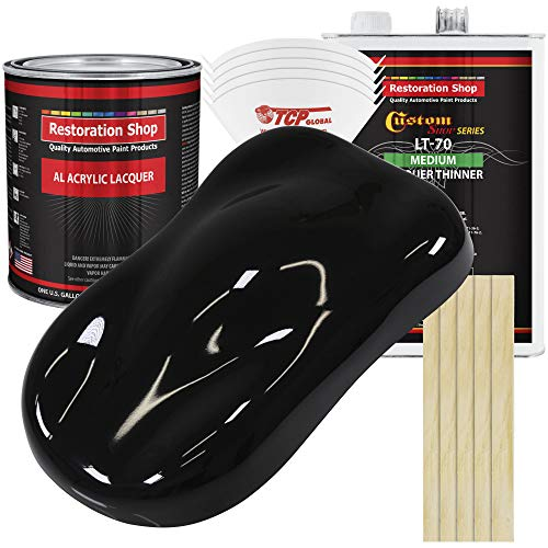 Restoration Shop Acrylic Lacquer Complete Gallon Paint Kit with Medium Thinner