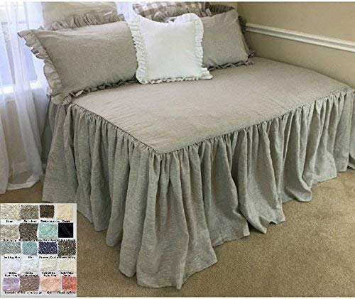 Daybed cover in Natural linen –White, Grey, Cream, Pink, Blue, Stripe, Chevron, 40+ colors, Custom Size, Custom Made, FREE SHIPPING