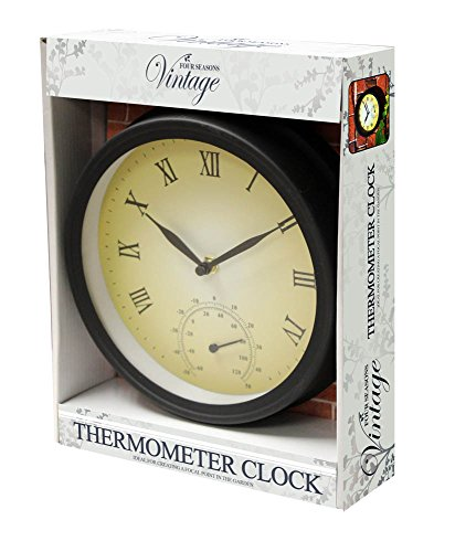Kingfisher Gartenuhr und Thermometer