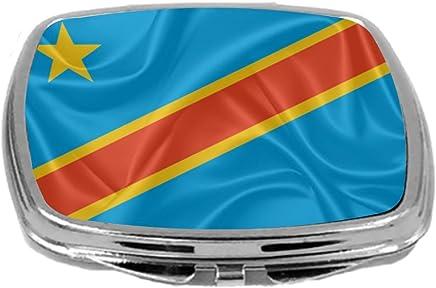 Rikki Knight Flag Design Compact Mirror, Congo Democratic Republic, 3 Ounce