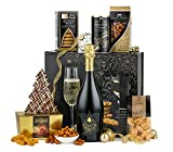 Thornton & France 'Elegance Sparkling' Luxury Christmas Hamper With Prosecco & Chocolates   Sweet & Savoury Treats To Share   8 Delicious Items