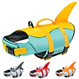 Malier Dog Life Jacket, Ripstop Dog Life Vest Adjustable Dog Life Preserver with Strong Buoyancy and Durable Rescue Handle Pet Lifesaver for Small Medium Large Dogs Swimming Boating (Yellow, X-Small)
