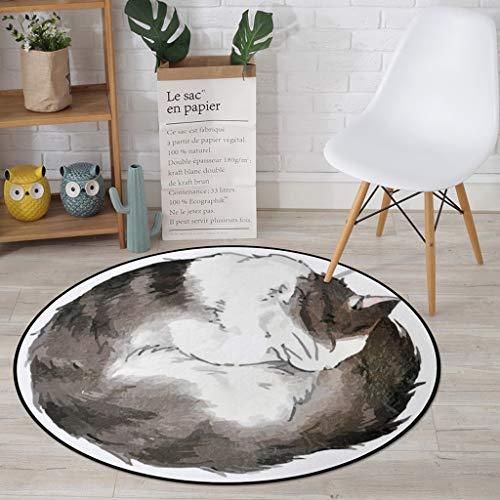 CKH Computerstoelkussen voor de kinderkamer, slaapkamer, ronde cartoon