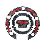 In fibra di carbonio for moto Serbatoio carburante Cuscino Tapo serbatoio Sticker serbatoio carburante di protezione Tappo della decalcomania for Yamaha R1 Mei Racing (Color : 1)