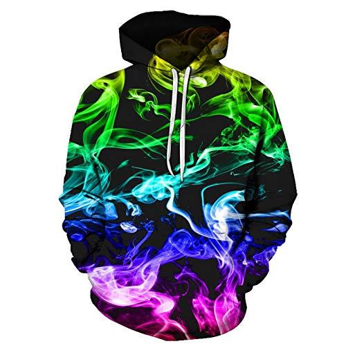 DAIDAIWLH Sweatshirts Adult Unisex 3D Gedruckt Langarm Hooded Women Office T-Shirts Loose Casual Hoodies