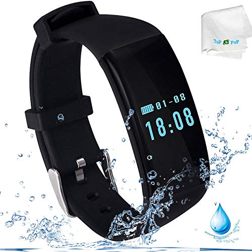 Fitness Tracker Heart Rate Monitor Activity Tracker Health Exercise Watch Smart Bracelet Bluetooth Sport Wrist Band Smart Watch Calls Reminder Calorie Step Counter for Android Cell Phone Men Women Kid