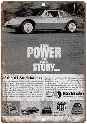 SECOFE Studebaker Automobile Sales Corp 20,3 x 30,5 cm Vintage Style farbechte Metall-Blechplakette Wandkunst Dekoration für Café Bar Restaurant Pub Schild
