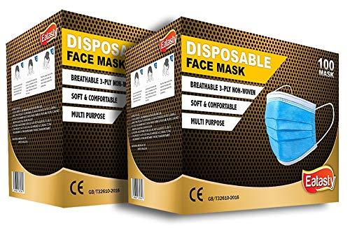 3-lagige Gesichtsmasken für Erwachsene, Einweg-Schutz, atmungsaktive Gesichtsbedeckungen, Motorrad, Gesichtsmasken, atmungsaktiv, Anti-Dunst, Familienabdeckung, Sturmhaube, Bandanas (200)