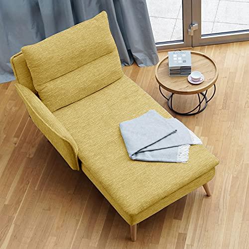 place to be. M14023 - Tumbona de relax con reposabrazos izquierdo, color amarillo